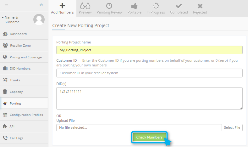 Porting Project creation